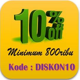 diskon 10
